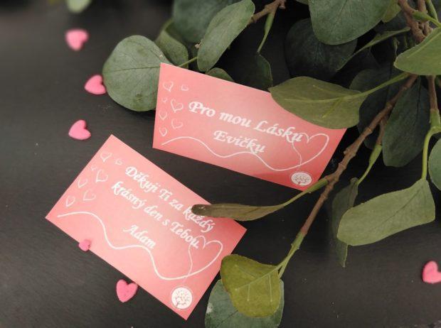 1 kartička s věnováním k Vaší zásilce
