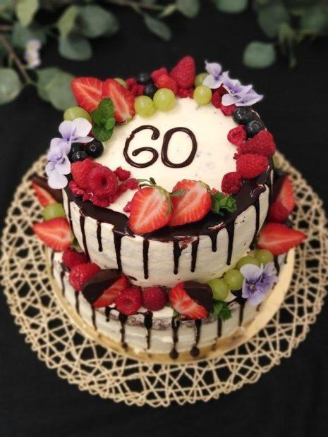 Stékaný patrový dort