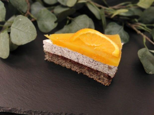 Makový dort s pomerančem